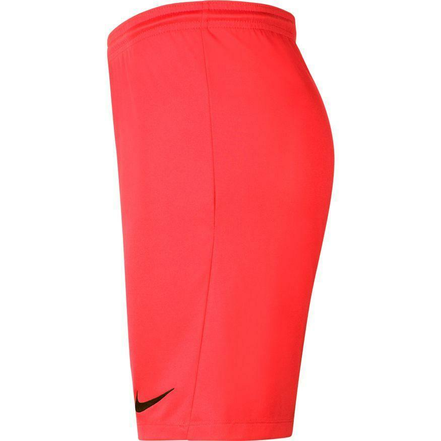 nike nike pantaloncino calcio park iii rosso fluo