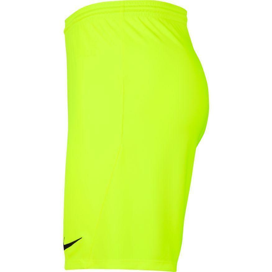 nike nike pantaloncino calcio park iii giallo fluo