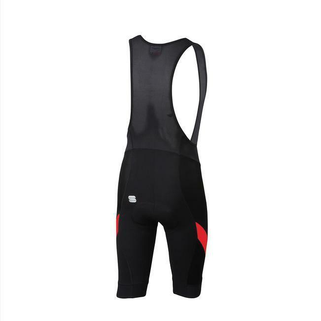 sportful sportful pantaloncino con bretelle neo bib short nero/rosso