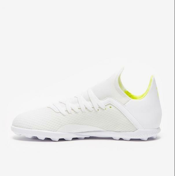 adidas adidas scarpa calcetto bambino x 18.3 tf bianco/giallo fluo