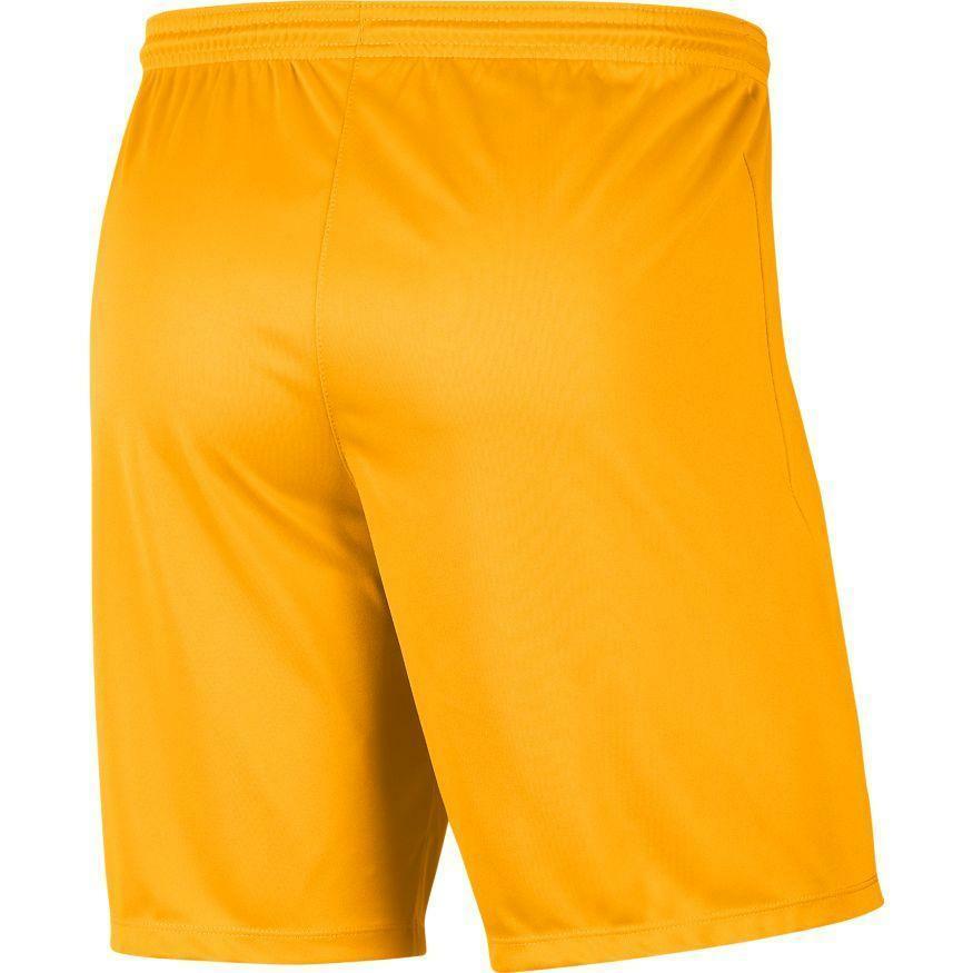 nike nike pantaloncino calcio park iii giallo scuro