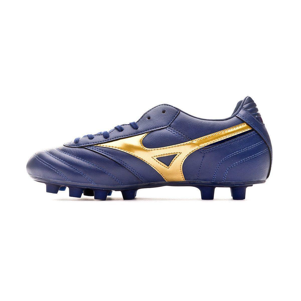 mizuno mizuno scarpa calcio morelia classic md blu/oro