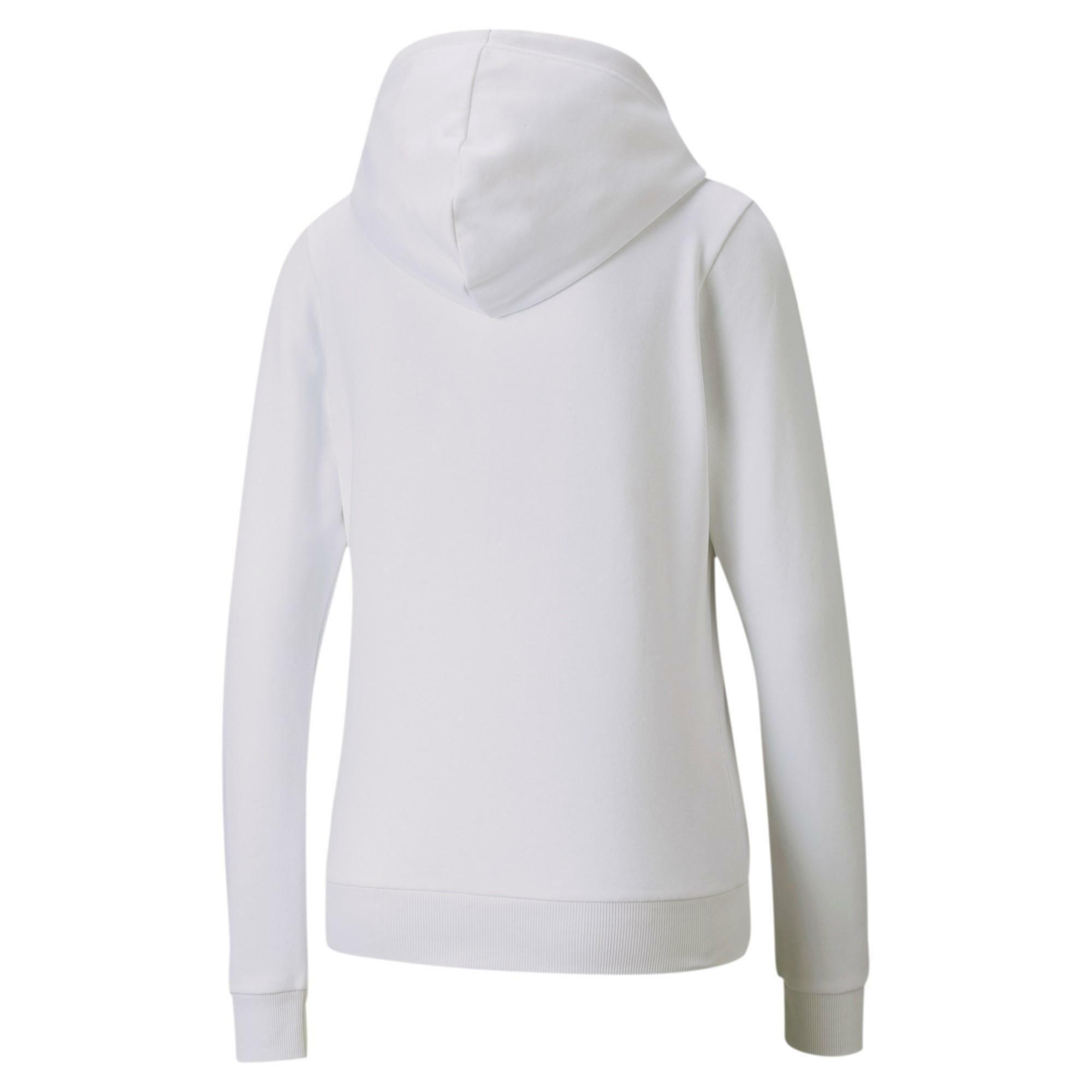 puma puma felpa donna ess+ metallic full-zip bianco