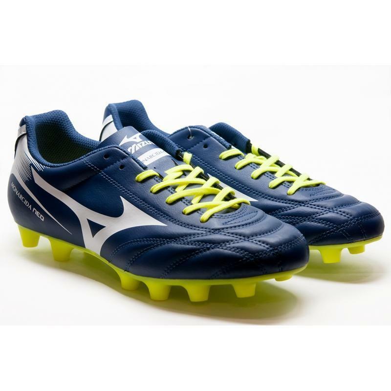 mizuno mizuno scarpa calcio monarcida neo md azzurro/giallo