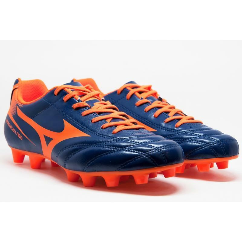 mizuno mizuno scarpa calcio monarcida neo md azzurro/arancio fluo