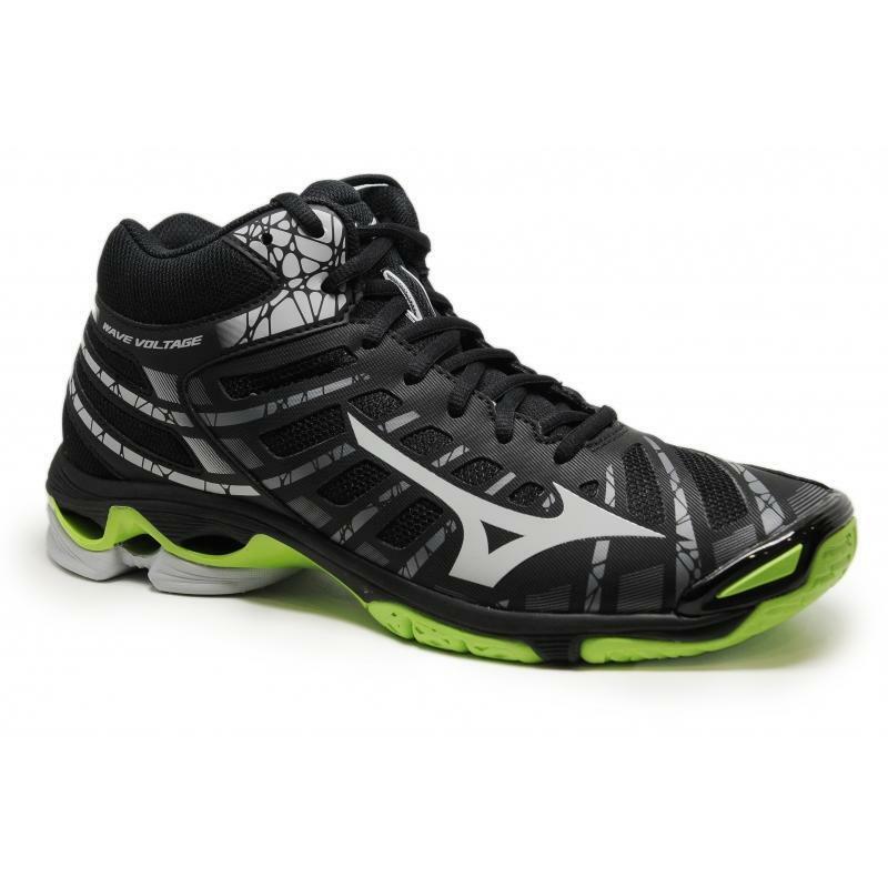 mizuno mizuno scarpa pallavolo wave voltage mid nero/verde