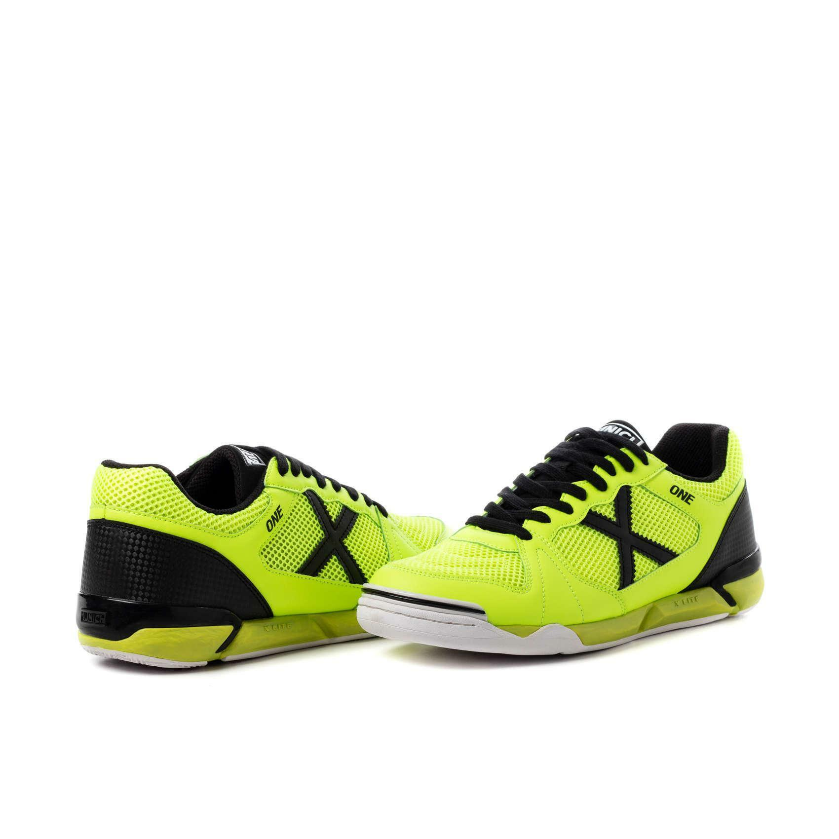 munich munich scarpa calcetto one indoor giallo fluo