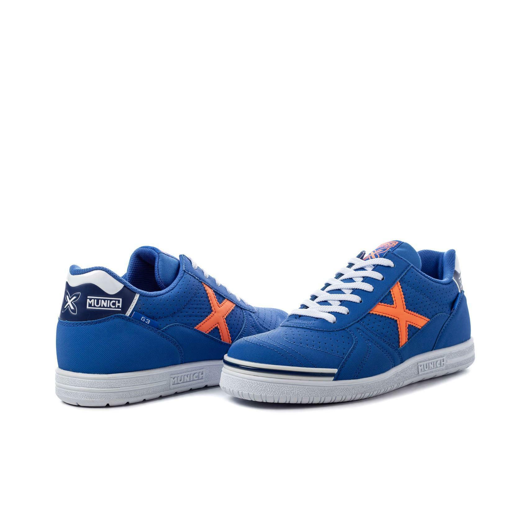 munich munich scarpa calcetto g3 profit azzurro