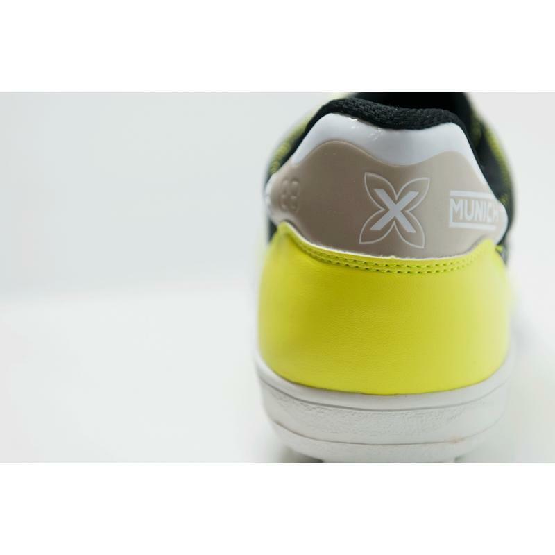 munich munich scarpa calcetto gresca genius g3 tf giallo fluo
