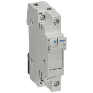 hager porta-fusibile base per fusibili cilindrici 10,3 x 38 32 a 1 polo + neutro l50600