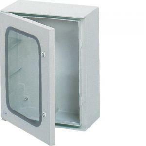 hager hager quadro di distribuzione armadio 500x400x200 con porta trasparente fl263b