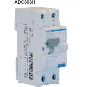 hager hager differenziale magnetico interruttore automatico 1pn 30ma ac 6a 4.5ka c 2 moduli adc806h