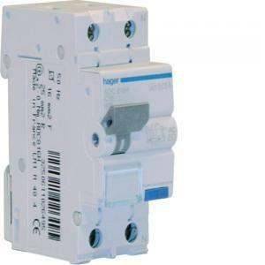 hager hager interruttore automatico differenziale modulare 1pn 30ma ac 10a 6ka c  2 moduli