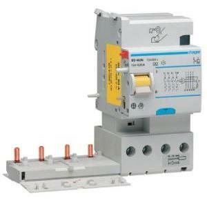 hager hager blocco differenziale tipo ac, per interruttore automatico series m e n 4 poli 63a 30 bf464n
