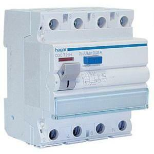 hager hager differenziale modulare puro interruttore 4p 30 ma 25a 4moduli cdc725h