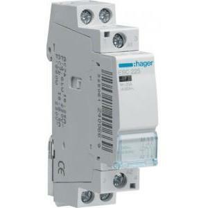 hager hager contattore eco per il comando di circuiti 2na 230vac 25a 1m  esc225