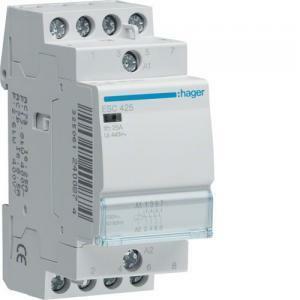 hager contattore eco per il comando di circuiti 4na 230vac 25a 2 moduli esc425