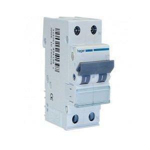 hager hager interruttore automatico per il comando modulare 1p+n 25a 4.5ka c 2 moduli myn525