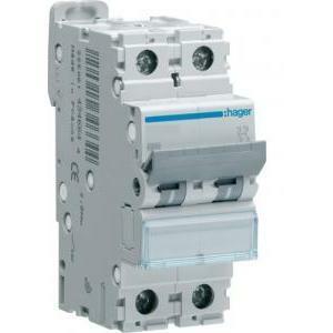 hager hager interruttore automatico modulare 2 poli 10a6 ka c 2 moduli mca210
