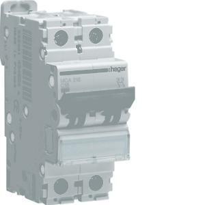 hager interruttore automatico di comando e protezione 2 poli  25a 6 ka c 2 moduli mca225