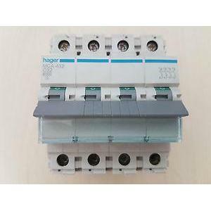 hager hager interruttore automatico modulare 4 poli 32a 6 ka c 4 moduli  mca432