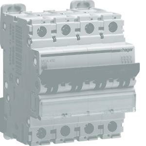 hager interruttore automatico modulare di comando 4 poli 40a 6 ka c 4 moduli  mca440