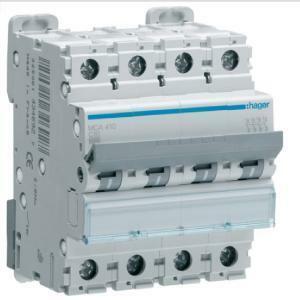 hager interruttore automatico modulare 4p 63a 6 ka c 4 moduli mca463