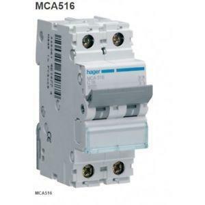 hager interruttore automatico modulare di comando e protezione 1 polo + neutro 20a 6ka c 2 moduli