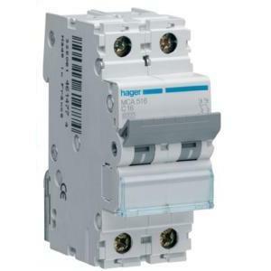 hager interruttore automatico modulare di comando di protezione 1 polo + neutro 32 a 6 ka c 2 moduli mca532