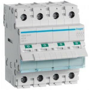 hager interruttore non automatico modulare 4 poli 40a 4 moduli sbn440