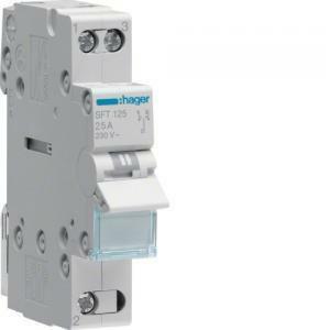 hager interruttore commutatore 1-0-2 1 polo 25a 1 modulo com a sft125