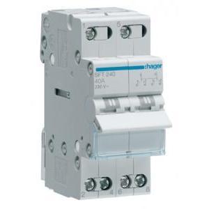 hager hager commutatore interruttore rotativo 1-0-2 2 poli 40a 2 moduli sft240