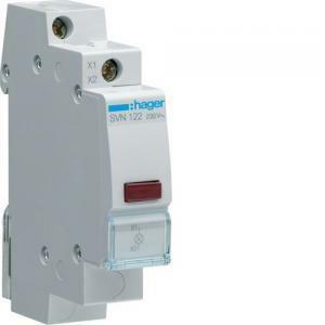 hager hager lampada spia modulare rosso segnalatore led luminoso 1 modulo svn122
