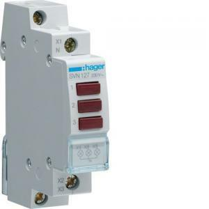hager hager lampada spia modulare 3 segnalatori luminosi rossi 1 modulo svn127