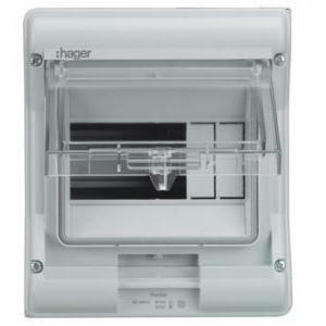 hager hager centralino da parete vector ip65 1x12 porta trasparente ve112g