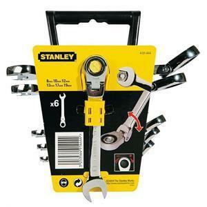 stanley stanley set 6 chiavi a cricchetto reversibile e snodato 491444