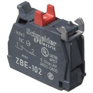 schneider schneider elemento di contatto singolo con collegamento a vite serrafilo zbe102