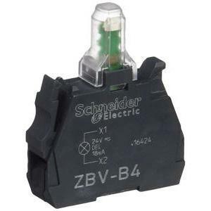 schneider schneider elemento led luminoso integrato 24v rosso zbvb4