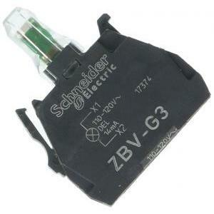 schneider schneider elemento luminoso verde con led integrato zbvg3