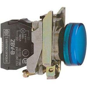 schneider schneider lampada spia blu led integrato 230v luce fissa xb4bvm6