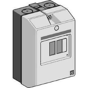 schneider schneider cassetta ip55 per interruttori automatici magneto- termici gv2 megv2mc02