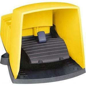 schneider schneider interruttore a pedale in plastica 1nc+no giallo xpey510