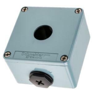 schneider schneider pulsantiera vuota metallica 1f 80x80x49 xapm1201