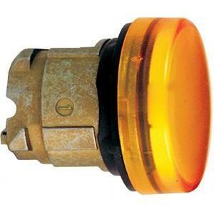 schneider schneider testa lampada con gemma liscia per lampada spia gialla zb4bv05