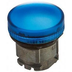 schneider schneider testa con gemma liscia per lampada spia blu con lampadina ba9s zb4bv06
