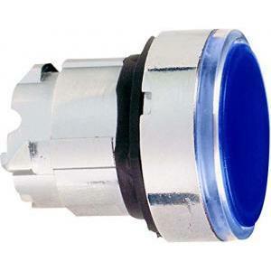 schneider schneider pulsante luminoso azzurro a filo ghiera solo testa con gemma zb4bw36