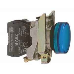 schneider schneider lampada spia bianca led 2 integrato a luce xb4bvb1