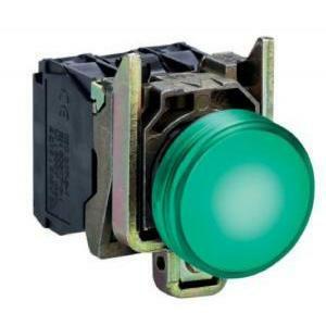 schneider schneider lampada spia verde led 24 v indicatore elettrico xb4bv3