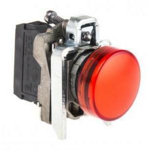 schneider schneider lampada spia rossa led integrato 24v  con luce fissa xb4bvb4
