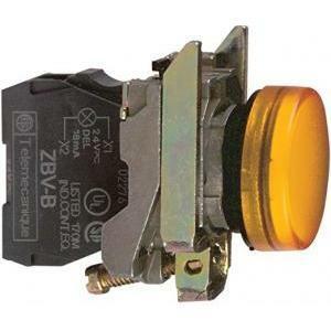 schneider schneider lampada spia gialla led 24v con led a luce fissa xb4bvb5